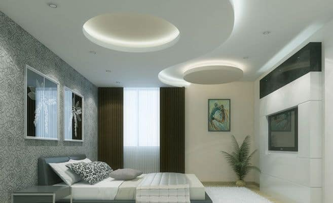 #29 A SIMPLE WHITE CIRCULAR PATTERNED DROP CEILING