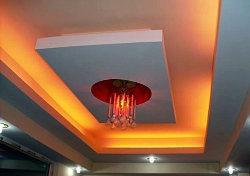 #7 RECTANGULAR FALSE CEILING WITH RED LIGHTING