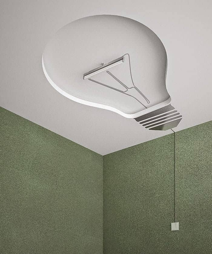 #9 LIGHT BULB CEILING DESIGN