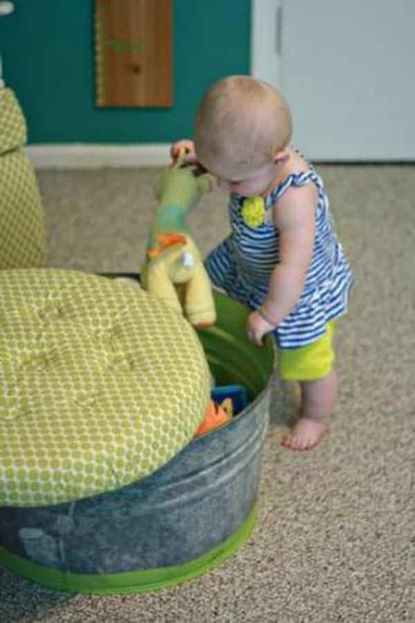 #13 HELP YOUR KIDS STORE THEIR TOYS IN A COLORFUL STOOL