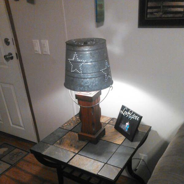 #24 USE SIMPLE ELEMENTS TO CREATE YOUR OWN GALVANIZED BUCKET LAMP