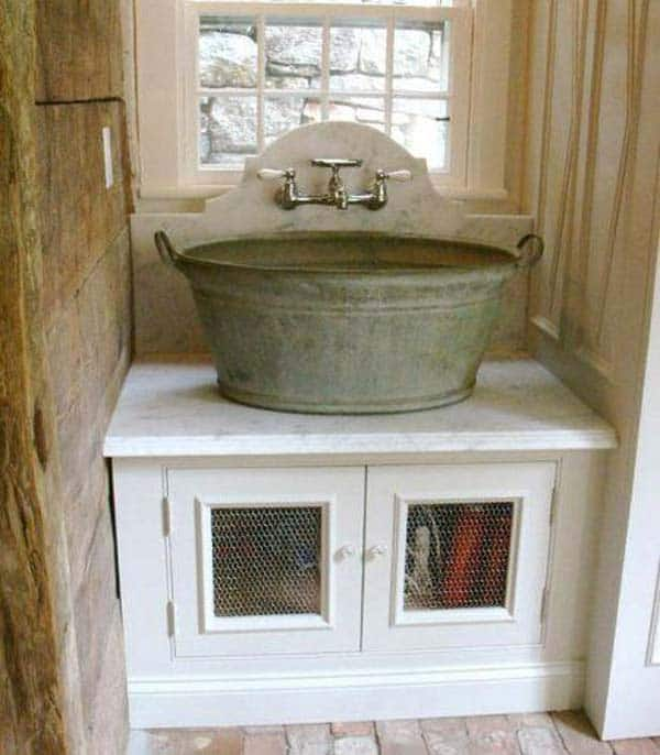 #31 INDUSTRIAL RUSTIC DESIGN WITH GALVANIZED SINK