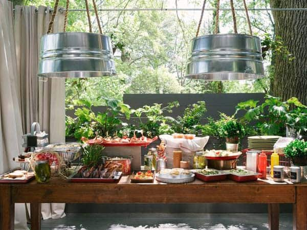 #5 SIMPLE AND NEAT GALVANIZED BUCKET LIGHTING FIXTURES