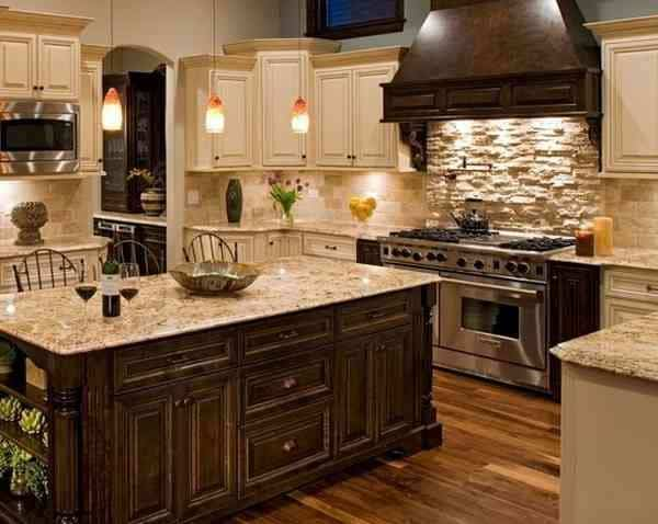 34 gorgeous kitchen cabinets for an elegant interior decor part 1 wooden doors for Hanging cabinet design for kitchen