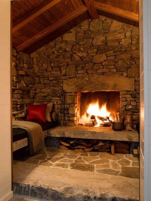 38 rustic country cabins with a stone fireplace for a - Bodegas rusticas caseras ...