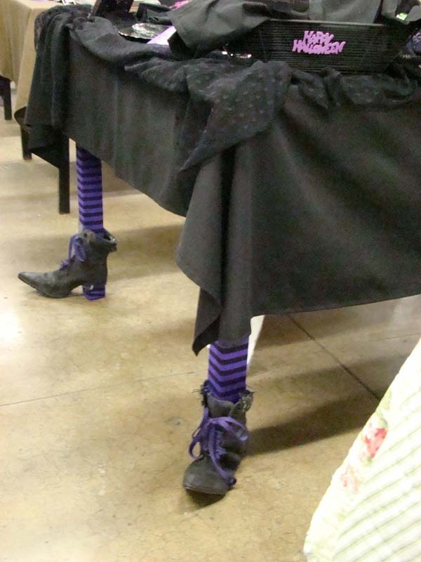#27 ADD WITCH SHOES TO YOUR DINNING TABLE