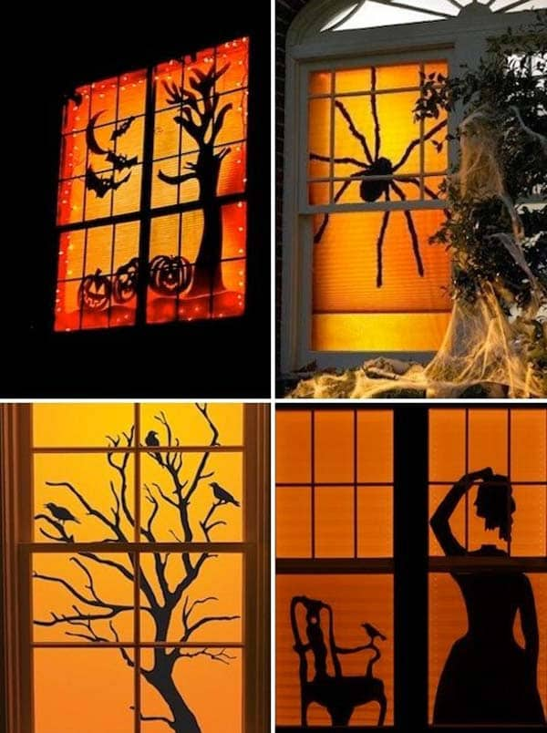 #30 USE YOUR INTERIOR LIGHT TO ANIMATE INSANELY CREATIVE HALLOWEEN SCENERIES