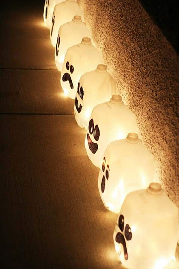 #7 ILLUMINATE MILK JUGS FROM WITHIN AND BEAUTIFY YOUR WALKWAY