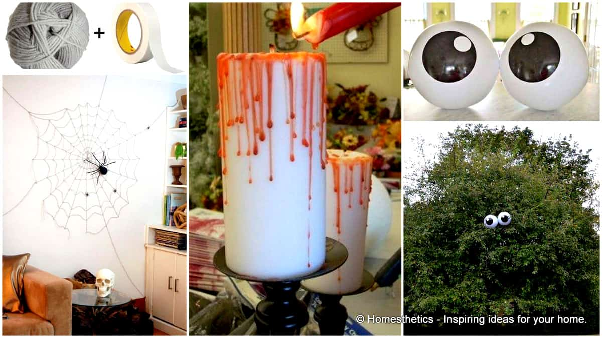 42 super smart last minute diy halloween decorations to for Home halloween decorations
