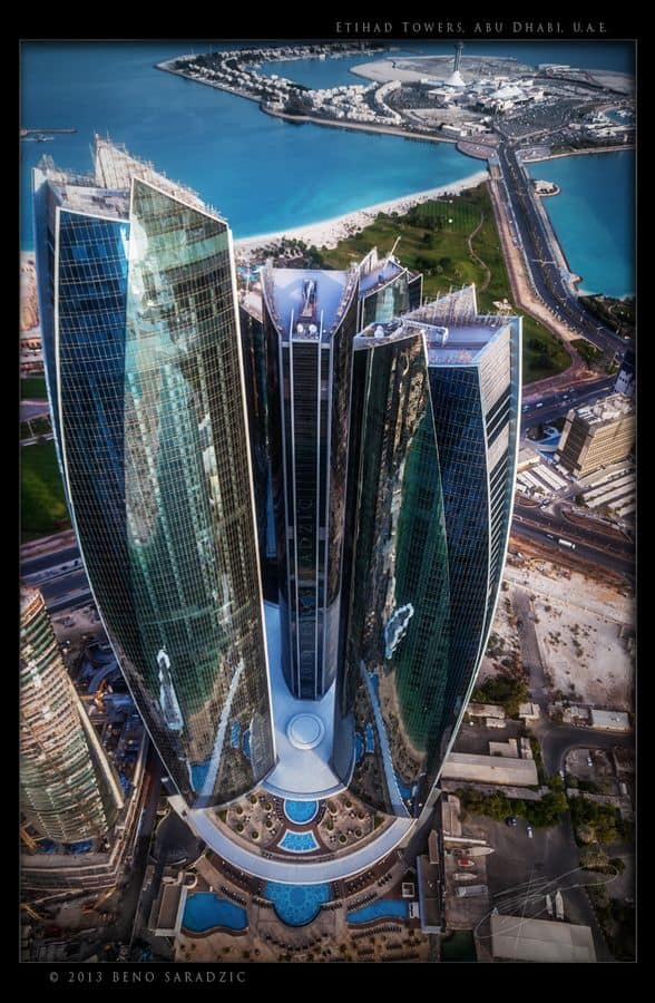 #7 THE ETIHAD TOWERS IN ABU DHABI UNITED ARAB EMIRATES