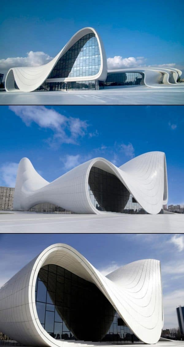 #11 THE HEYDAR ALIYEV CENTER IN BAKU AZERBAIJAN ZAHA HADID'S EXPRESSIVE STRUCTURAL FORM