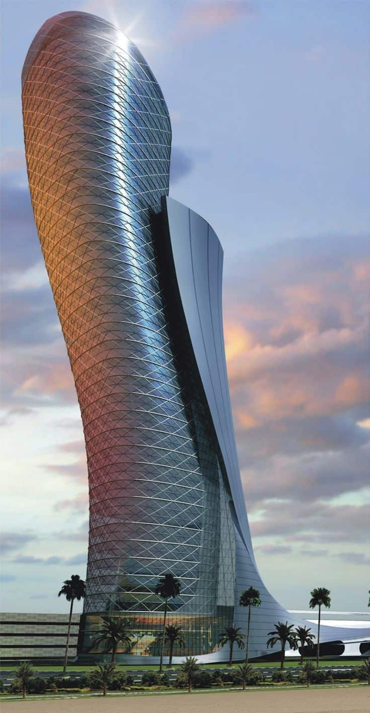 famous architecture in the world. Contemporary The 42 THE LEANING TOWER OF ABU DHABI ALSO KNOWN AS CAPITAL GATE In Famous Architecture The World Y