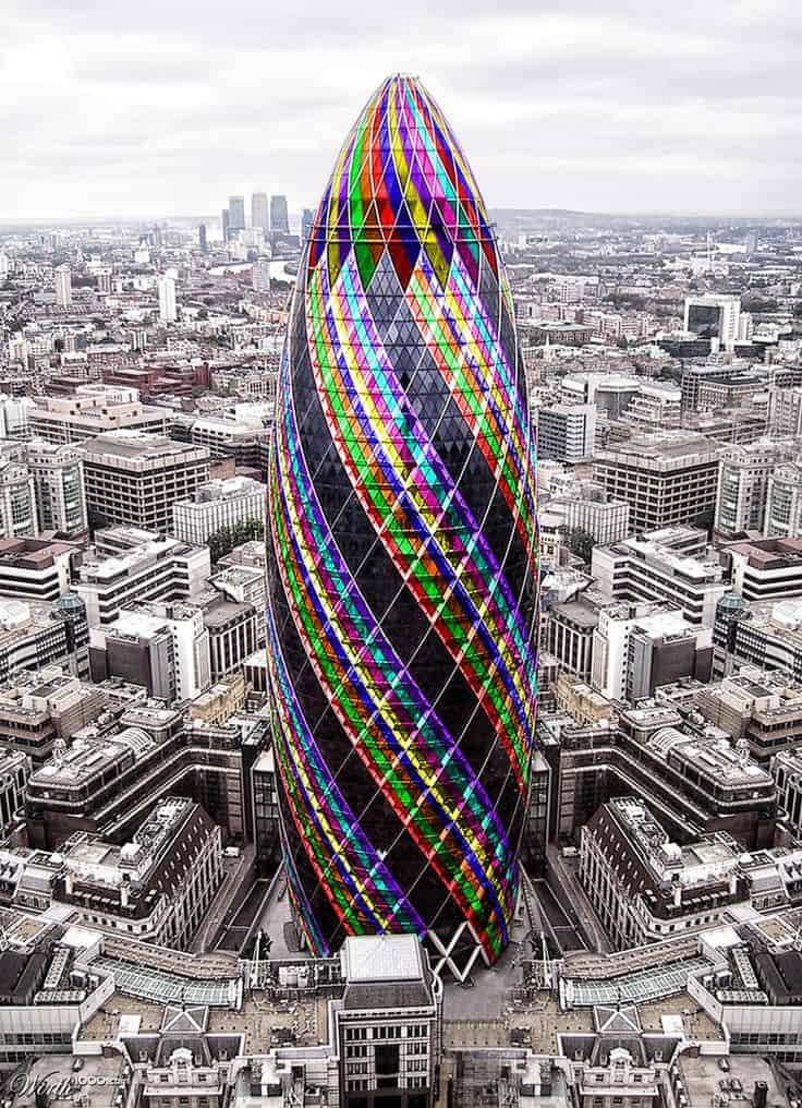 #41 THE GHERKIN OR ALSO CALLED 30 ST MARY AXE IN LONDON