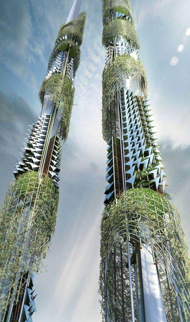#36 THE TAIWAN TOWERS IN TAIWANEXPRESS THE INTEREST FOR THE NEED OF GREENERY IN MODERN CITIES