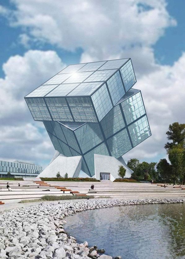 #32 THE RUBIK' S CUBE MUSEUM IN HUNGARY IS AN UNCONVENTIONAL MONUMENTALSTRUCTURE