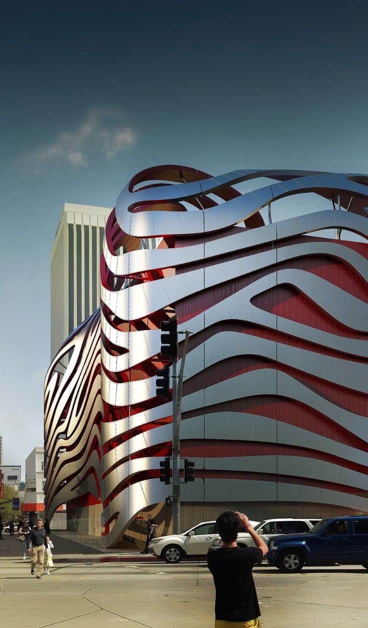 #19 PETERSEN AUTOMOTIVE MUSEUM IN L.A CALIFORNIAREFLECTS ITS DESTINATION IN A FLAWLESS FLUIDITY