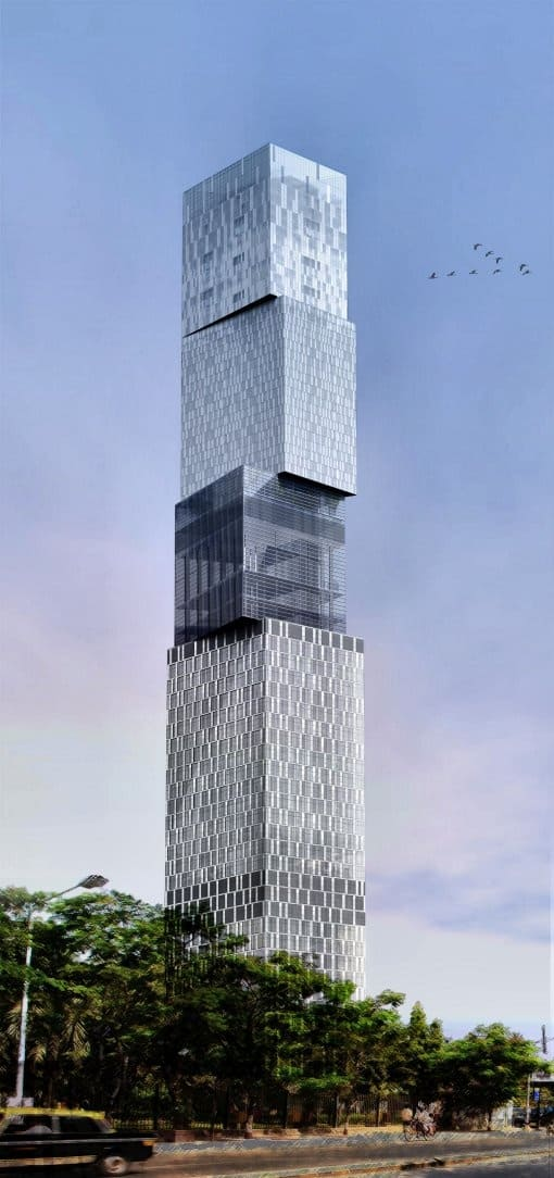 #18 THE MUMBAI TOWER IN INDIA IS AN UNCONVENTIONAL EXPOSE OF FACADES AND VOLUMES