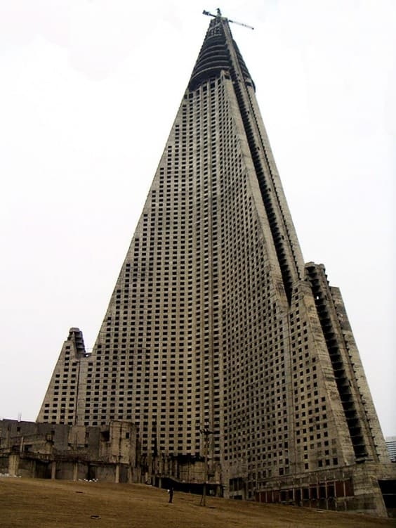 #3 THE RYUGYONG HOTEL IN NORTH KOREA