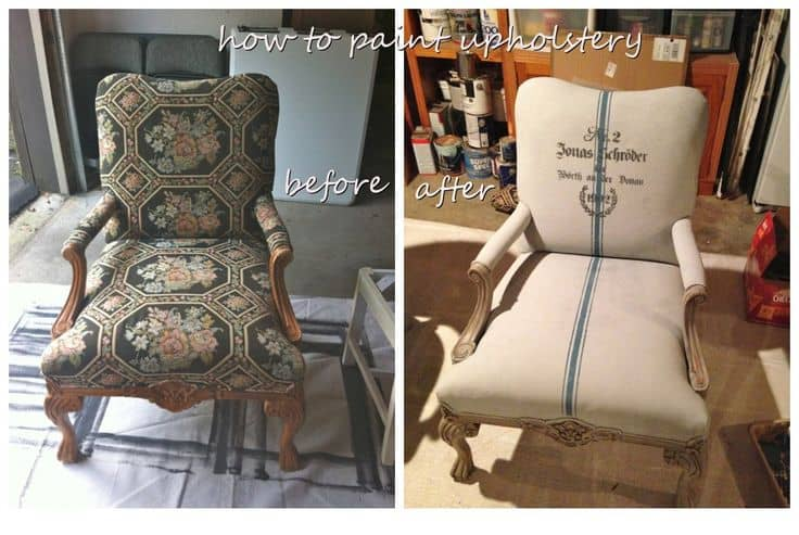 Before And After DIY Reupholstering Furniture Ideas (10)