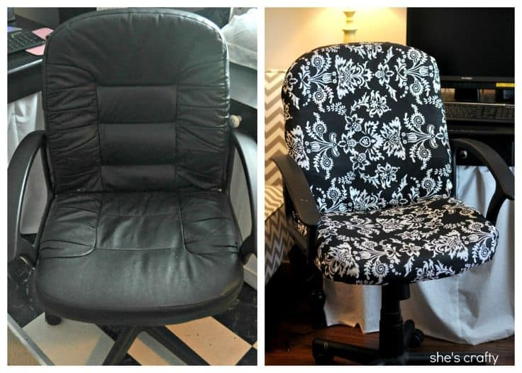 Before And After DIY Reupholstering Furniture Ideas (14)