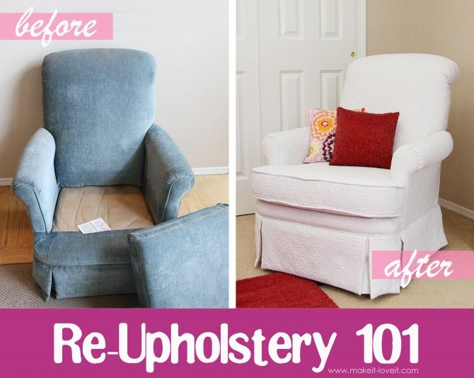 Before And After DIY Reupholstering Furniture Ideas (16)