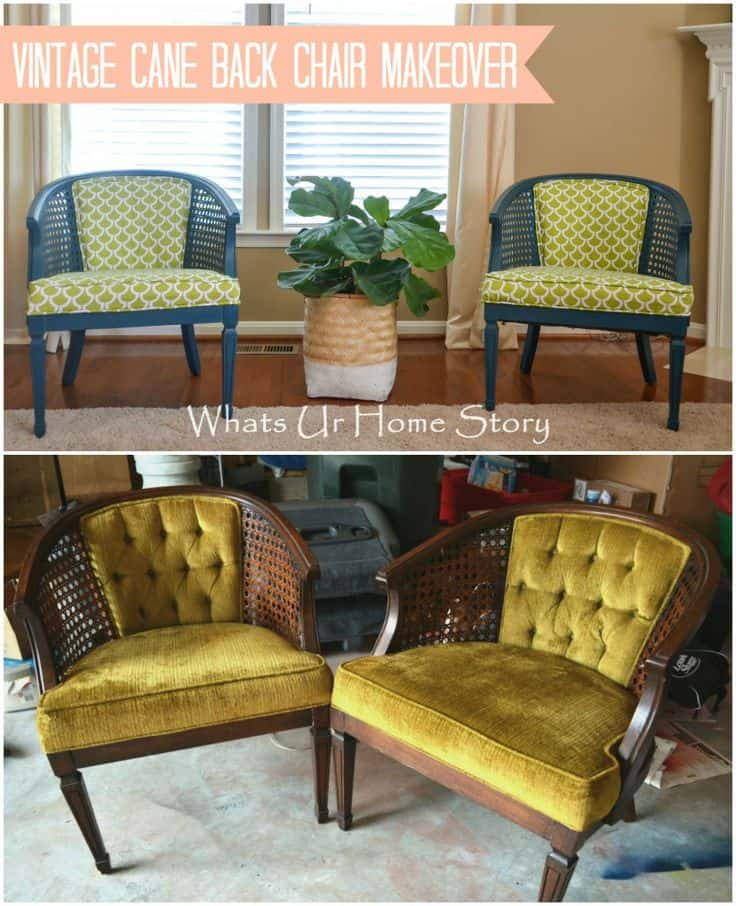 Antique Chairs Reupholstered Before After