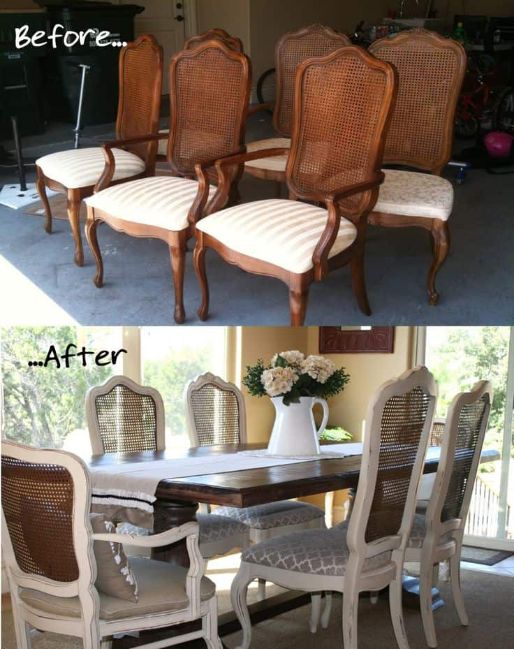 Before And After DIY Reupholstering Furniture Ideas (19)