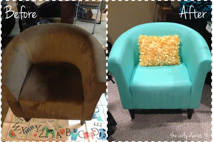 before and after diy reupholstering furniture ideas. Black Bedroom Furniture Sets. Home Design Ideas