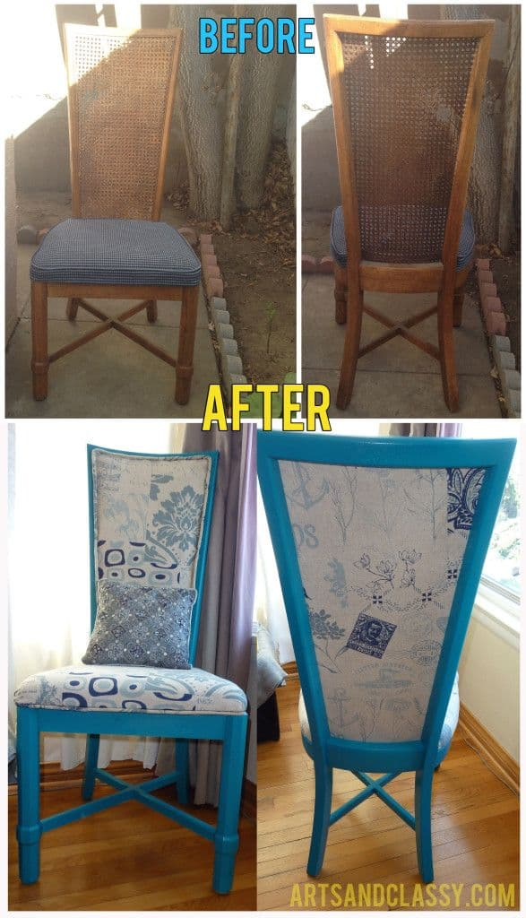 Before And After DIY Reupholstering Furniture Ideas (23)