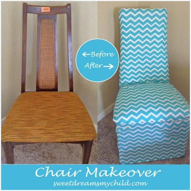 Before And After DIY Reupholstering Furniture Ideas 26