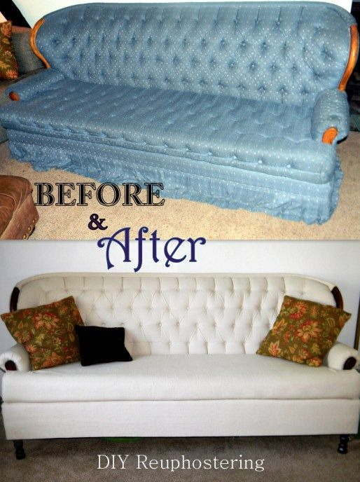 Before And After DIY Reupholstering Furniture Ideas (28)