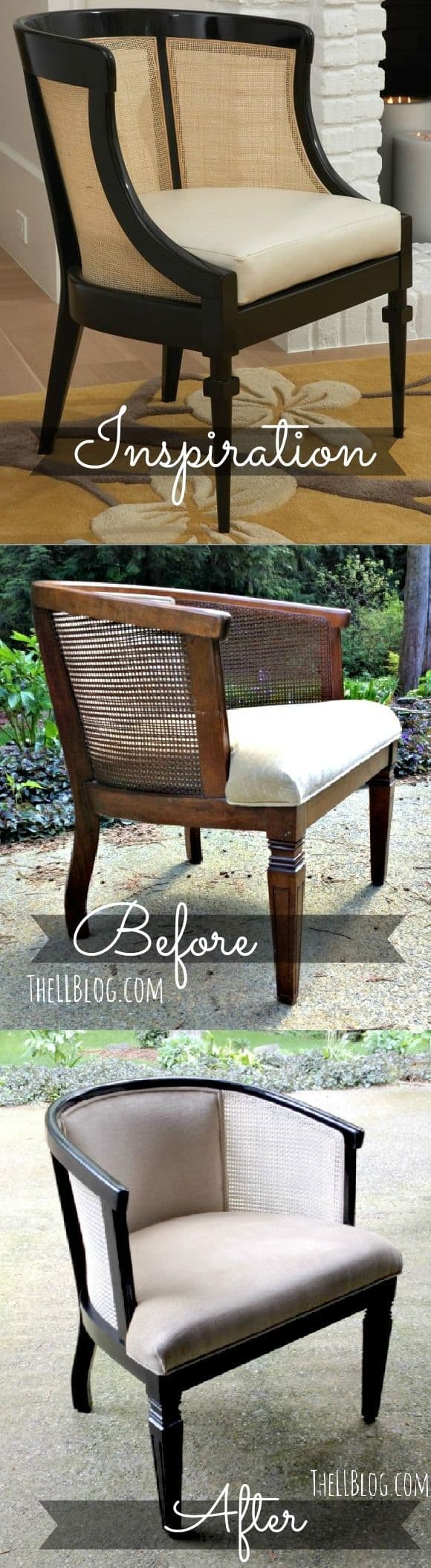 Before And After DIY Reupholstering Furniture Ideas (29)