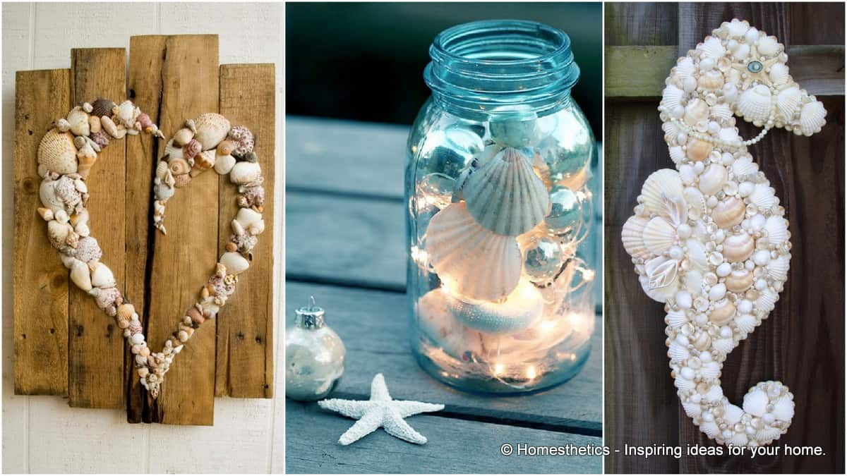 21 Beautifully Ingenious Sea Shell Projects To Consider On