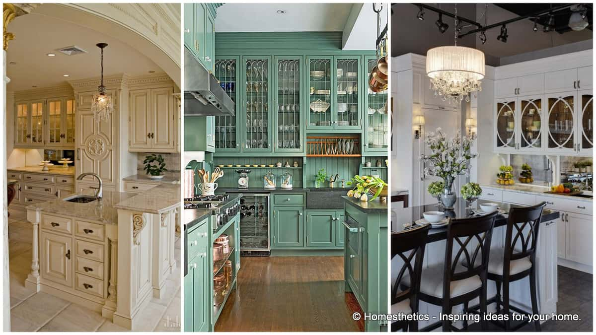30 Gorgeous Kitchen Cabinets For An Elegant Interior Decor Part 2 Glass  Cabinets