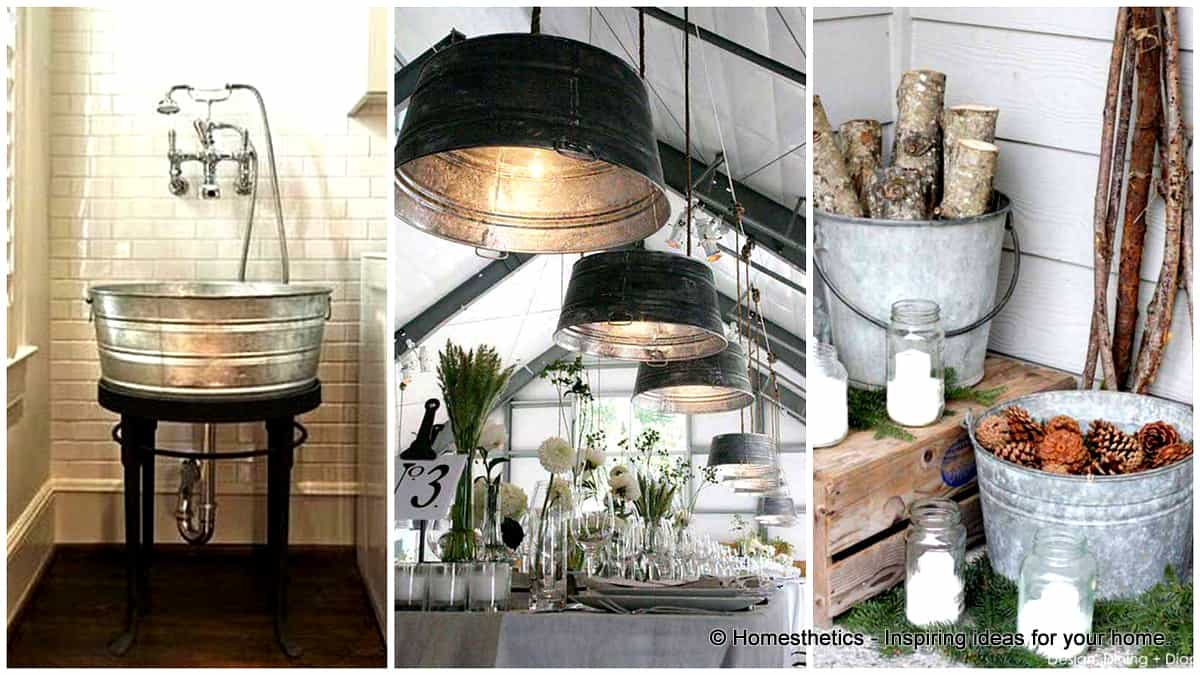 33 insanely smart ways to repurpose galvanized buckets and tubs