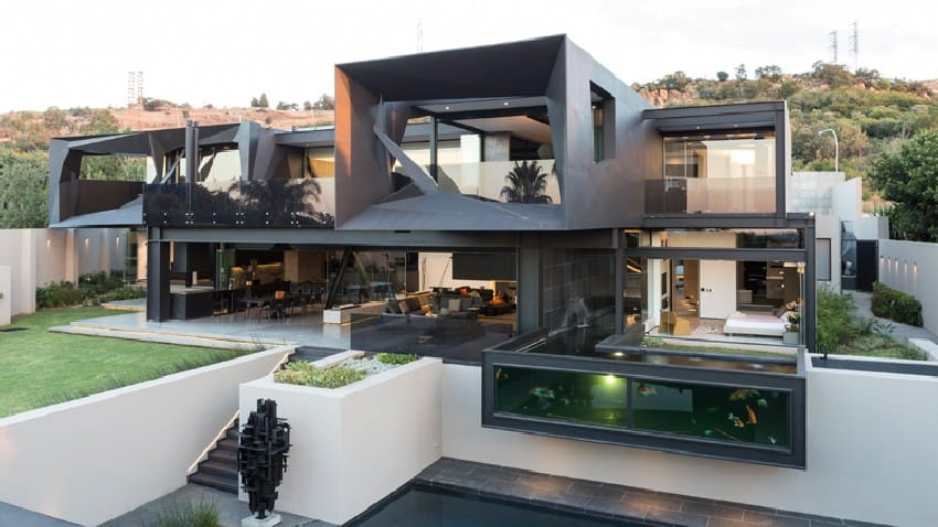 Jaw-dropping Kloof Road House Located In Johannesburg Disrupting Its Surroundings homesthetics modern mansion (1)