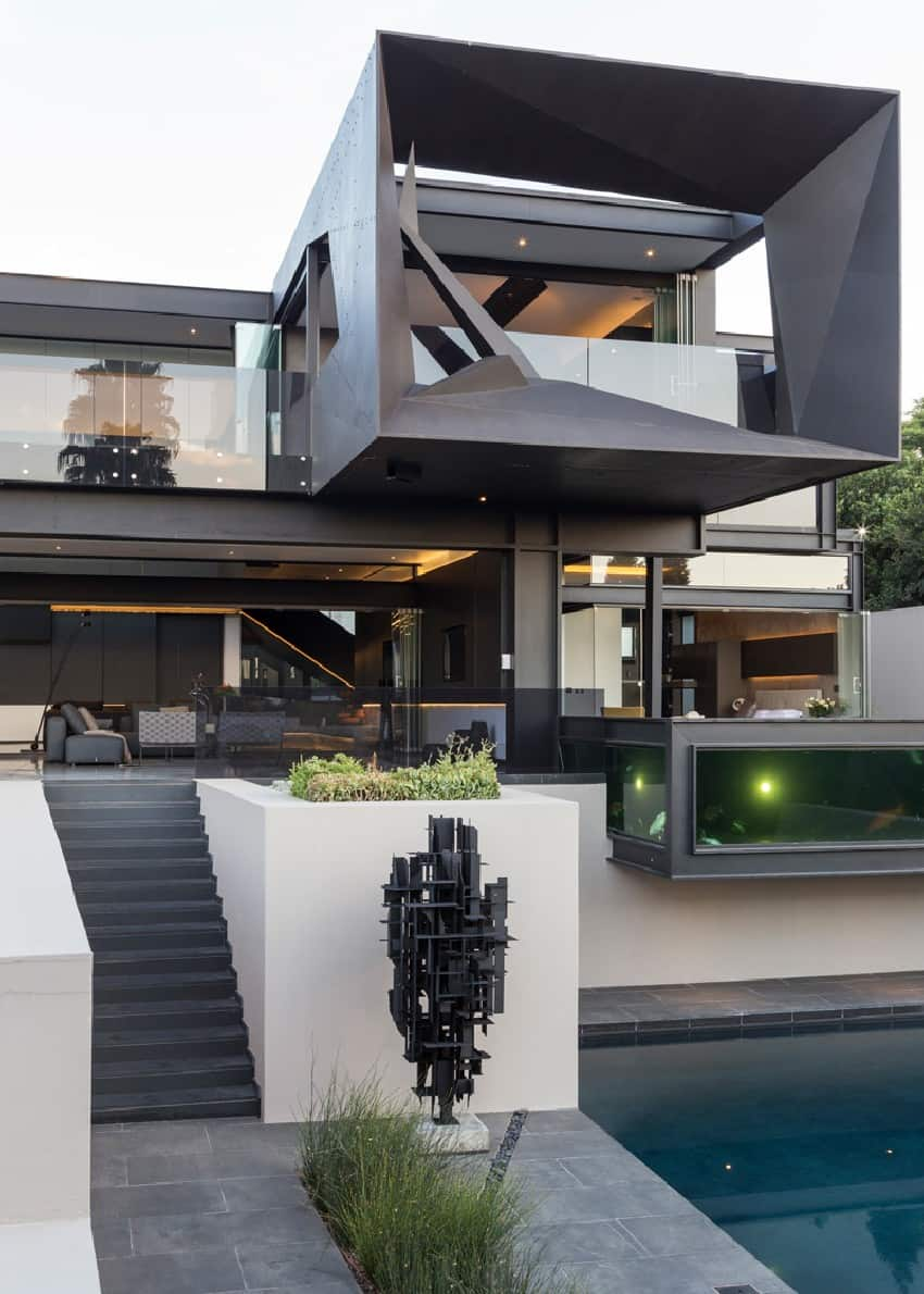 Jaw-dropping Kloof Road House Located In Johannesburg Disrupting Its Surroundings homesthetics modern mansion (7)