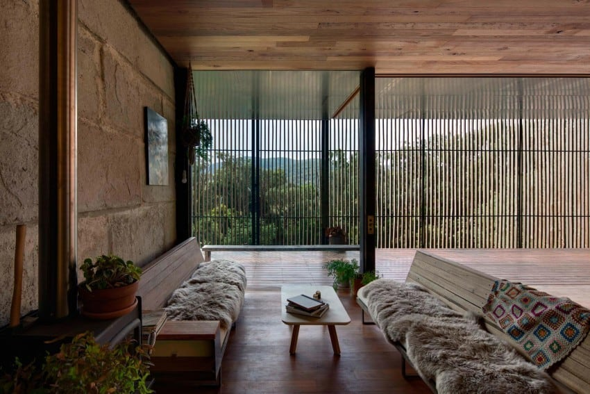 Reclaimed Concrete Blocks With Memory Defining Sawmill House in Australia modern residence on homesthetics magazine (7)