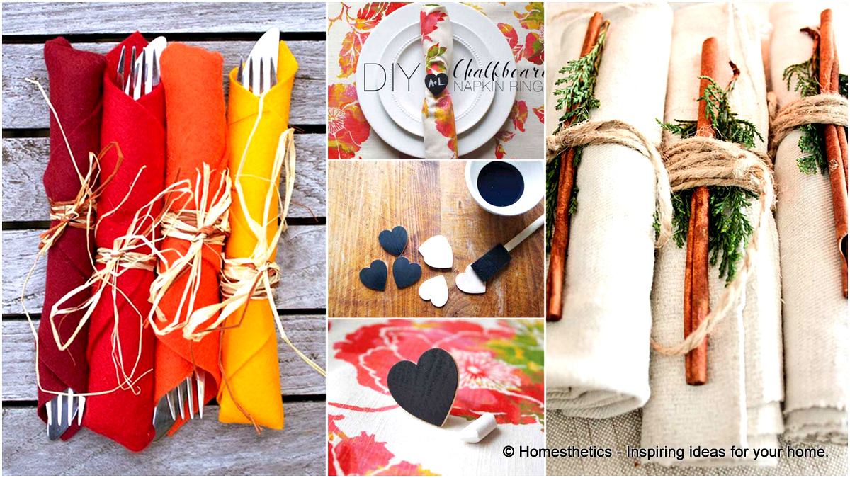 20 Super Beautiful Diy Napkin Rings For Your Cozy Thanksgiving Homesthetics Inspiring Ideas For Your Home