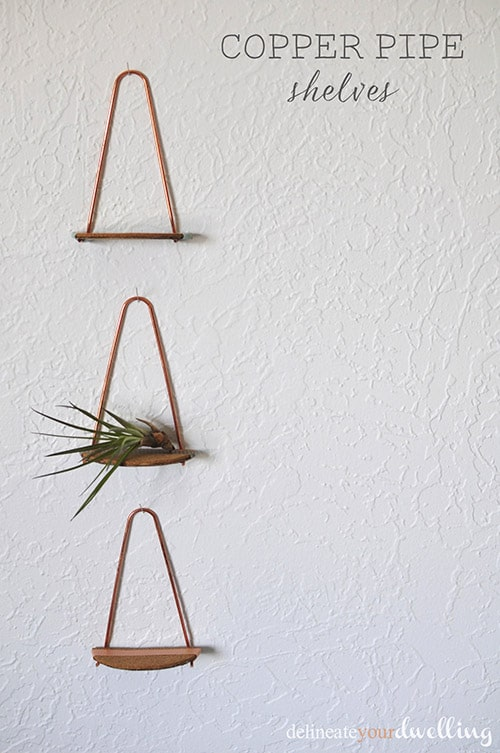 A SIMPLE COPPER PIPE SHELVE TO SHOWCASE YOUR DECORATIONS
