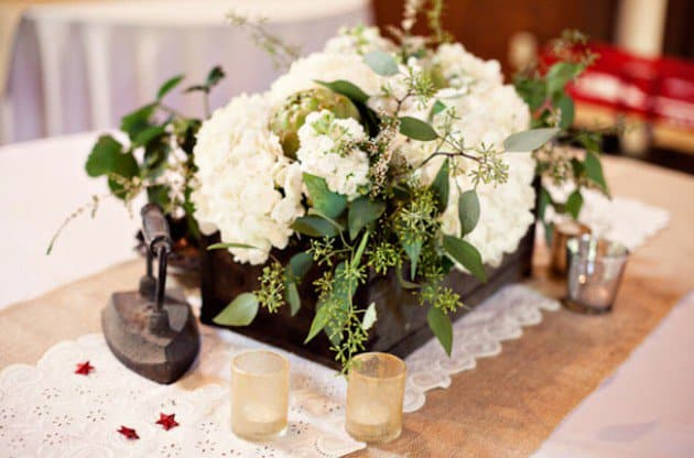 #3 use beautiful greenery in sensible decorations