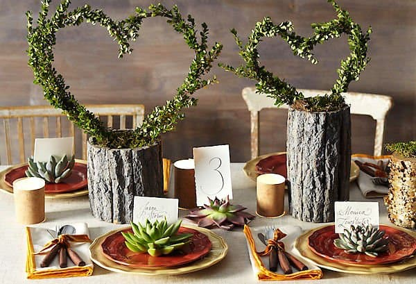 #13 tree logs can become mesmerizing planters and centerpieces