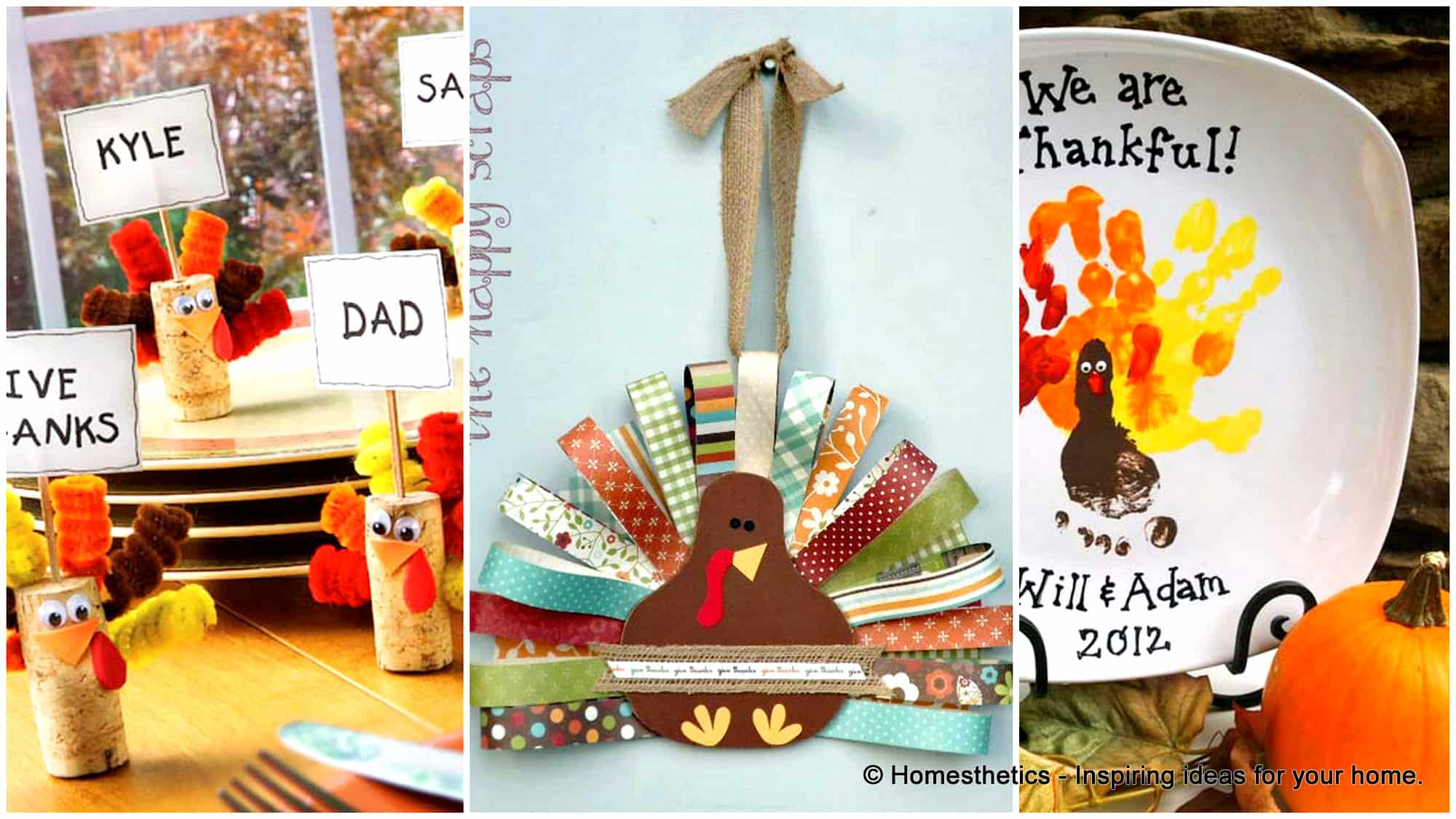 16 Super Smart Last Minute Turkey Inspired Decor and Crafts For Your Thanksgiving