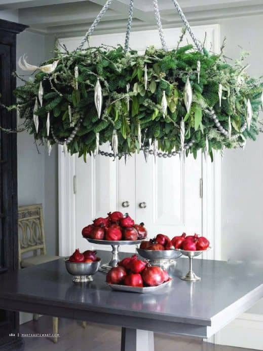 17 gorgeous christmas chandelier for a yuletide home decor 10 - How To Decorate A Chandelier For Christmas