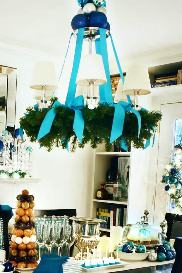 17 gorgeous christmas chandelier for a yuletide home decor 5 - Christmas Chandelier Decorations