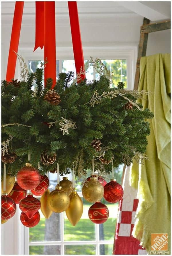 17 gorgeous christmas chandelier for a yuletide home decor 7 - Christmas Ball Decoration Ideas