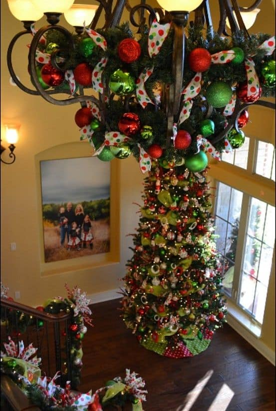 17 gorgeous christmas chandelier for a yuletide home decor 9 - How To Decorate A Chandelier For Christmas