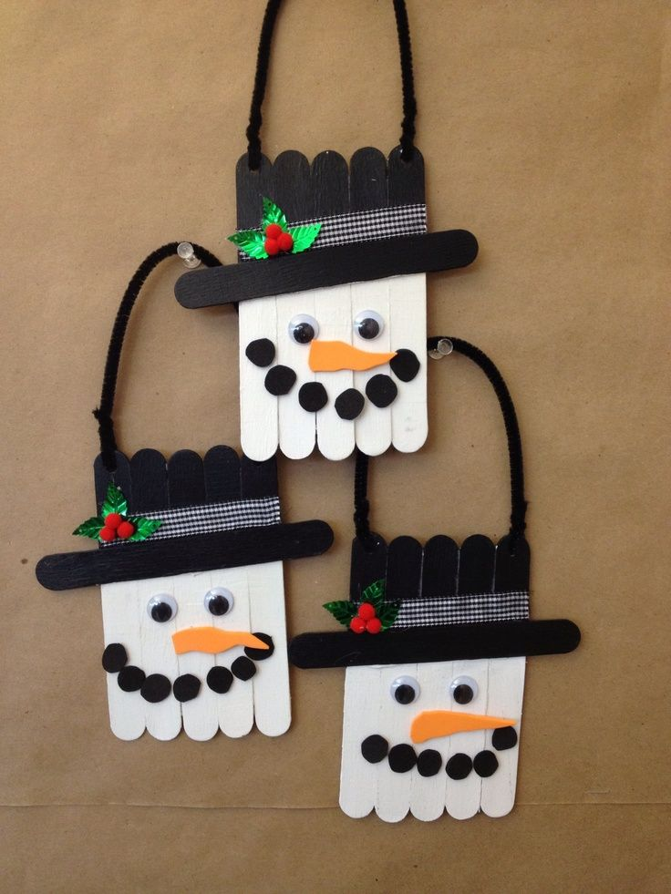 Snowman Craft Ideas For Kids Part - 45: 18 Clever Popsicle Craft Ideas For Your Kids This Christmas (12)