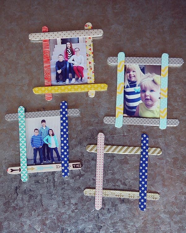 Christmas Picture Frame Craft Ideas Part - 28: 18 Clever Popsicle Craft Ideas For Your Kids This Christmas (3)
