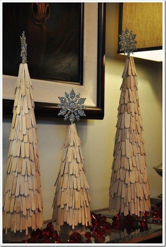 White Stick Christmas Tree